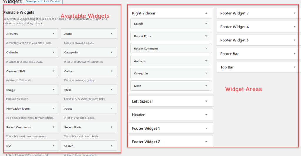 add posts to a page in wordpress - widgets
