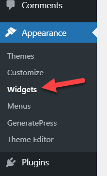 add posts to a page in wordpress - widgets option