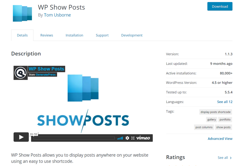 wp show posts plugin