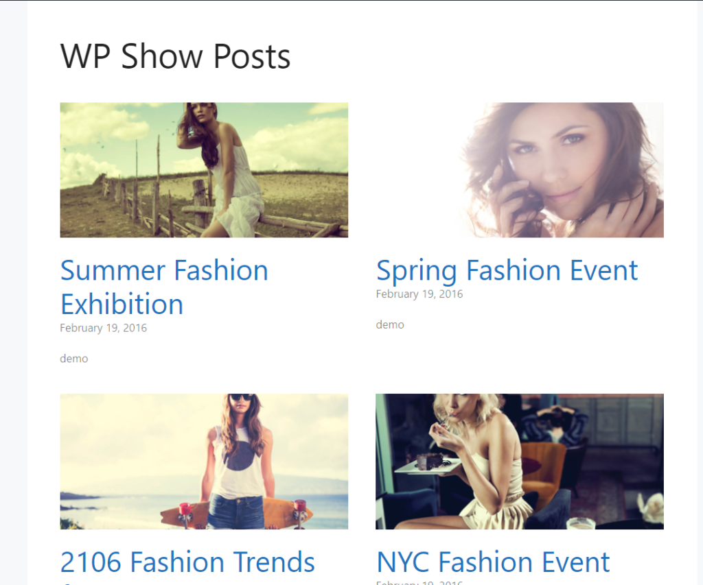 wp show posts posts