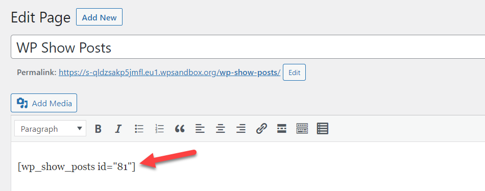 wp show posts shortcode