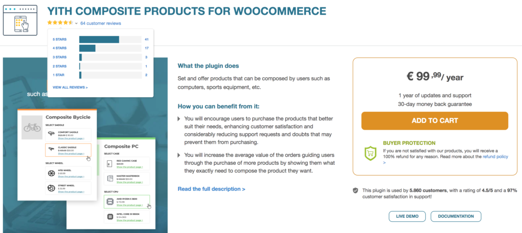 Best composite product plugins - YITH Composite Products for WooCommerce