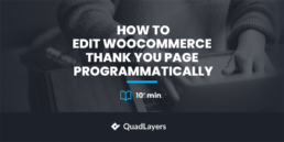 Edit WooCommerce Thank You page programmatically