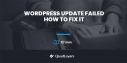 WordPress Update Failed Error: How to Fix it