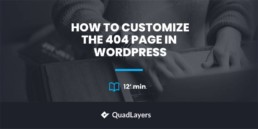 customize 404 page in wordpress