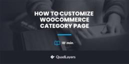 customize woocommerce category apge