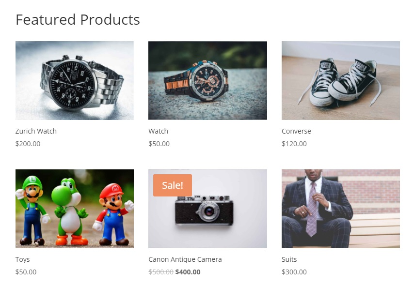 shortcode preview set featured products in woocommerce and display them