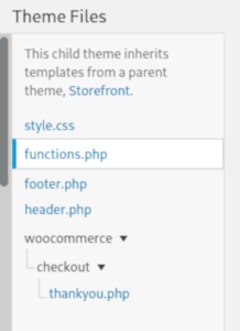 Overwrite thank you page woocommerce template