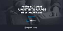 turn post into page