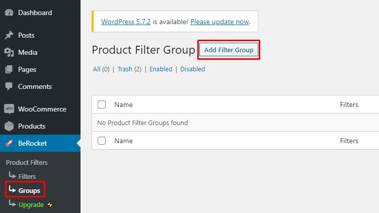 Add a filter group