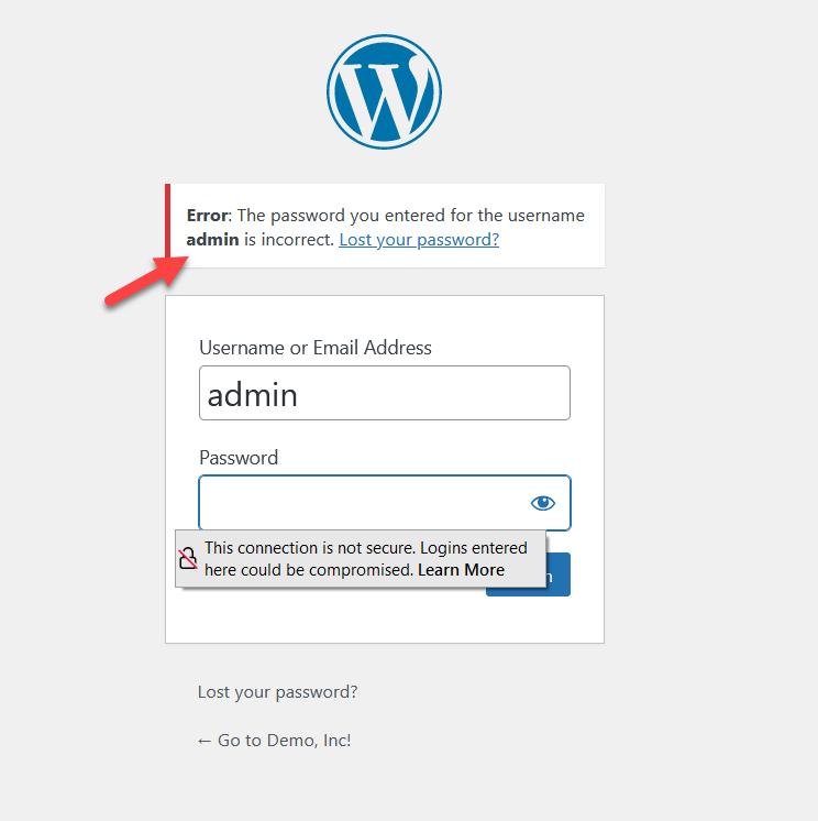 customize wordpress login page - password found