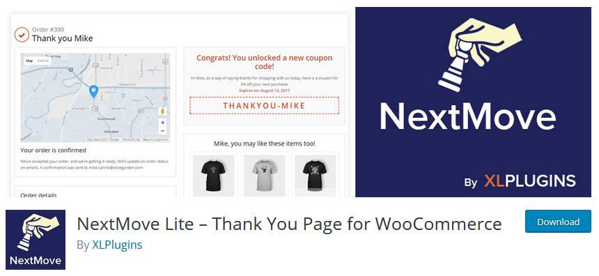 customize woocommerce thank you page - nextmove lite