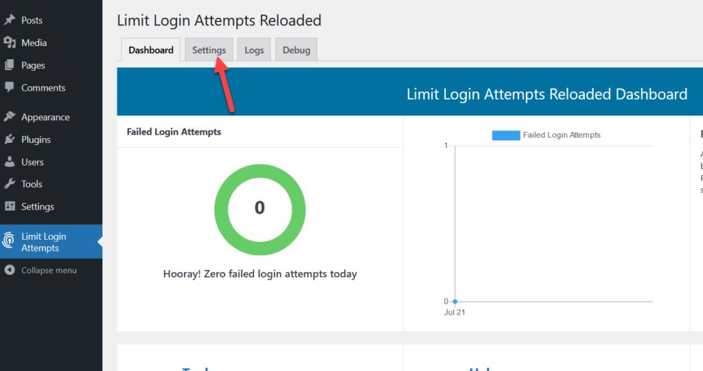 limit login attempts plugin settings