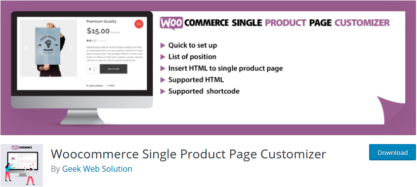 plugins to customize woocommerce product page - single page customizer