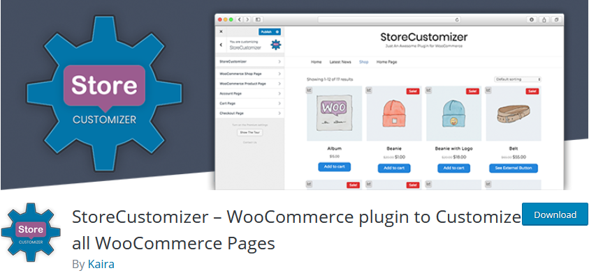 plugins to customize woocommerce product page - store customizer