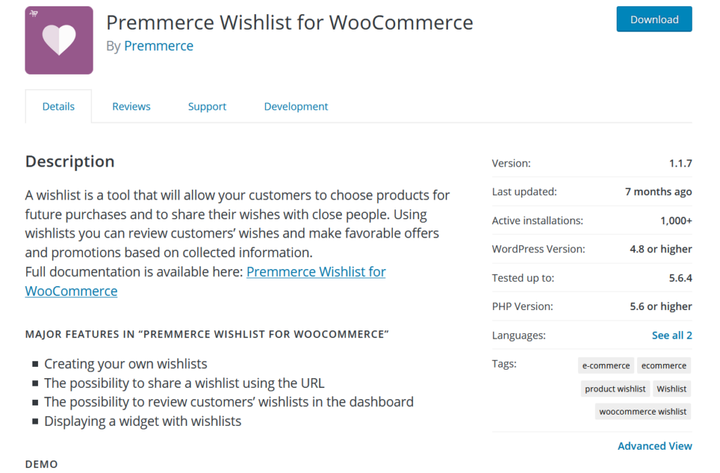 woocommerce wishlist plugins - premmerce wishlist