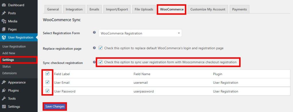 registration form in checkout customize woocommerce registration form