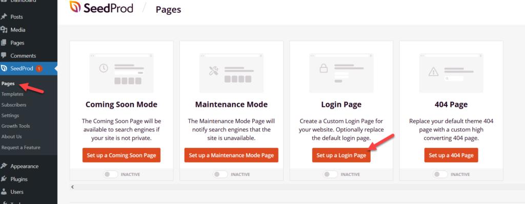 customize wordpress login page - login page