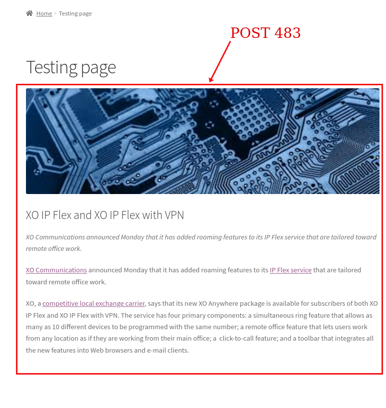 Display a single post by ID