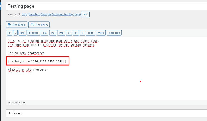 Insert shortcode in classic editor