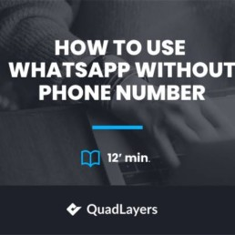 use whatsapp wihtout phone number