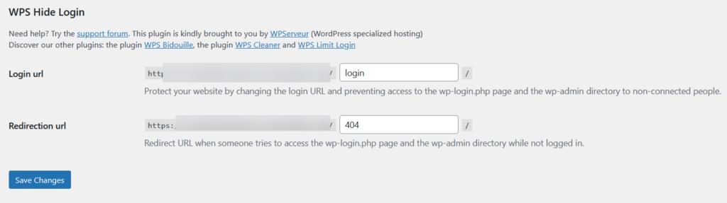 customize wordpress login page - wps hide login options