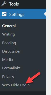 customize wordpress login page - wps hide login settings