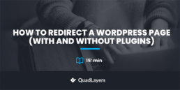 how to redirect a wordpress page