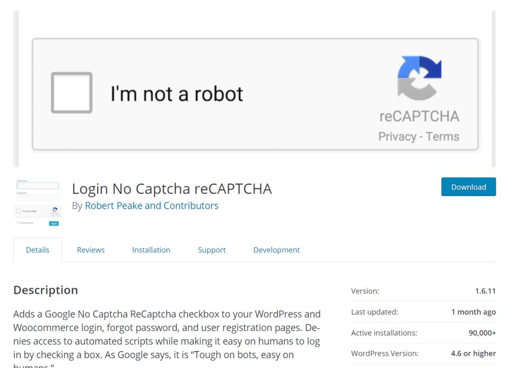 login nocaptcha recaptcha