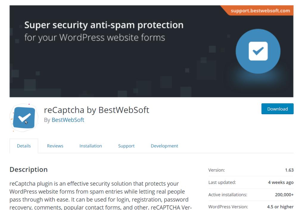 woocommerce captcha plugins - recaptcha by bestwebsoft