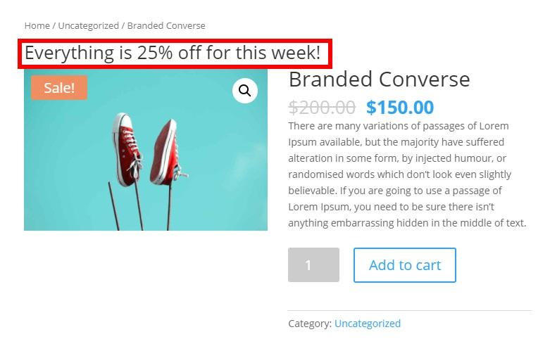 single product description example customize woocommerce templates