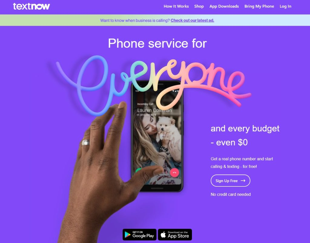 textnow best virtual phone number apps