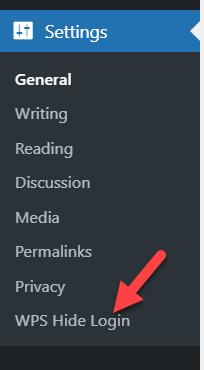 change WordPress login page URL - wps hide login settings