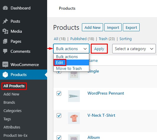 How to Change WooCommerce Prices in Bulk - WC default