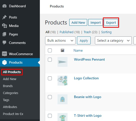Export All WooCommerce Products