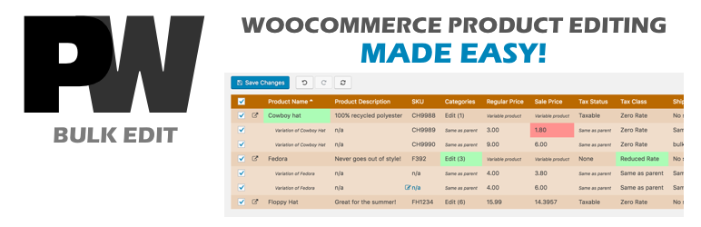 PW WooCommerce Bulk Edit