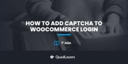 add captcha to woocommerce login