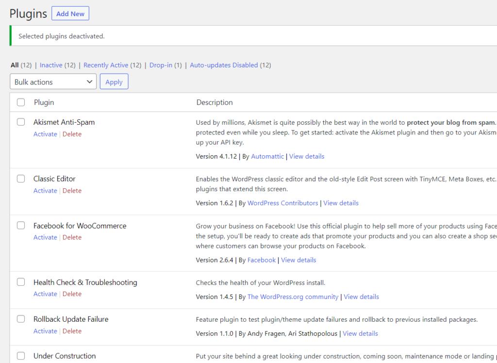 wordpress permalinks not working - all plugins deactivated