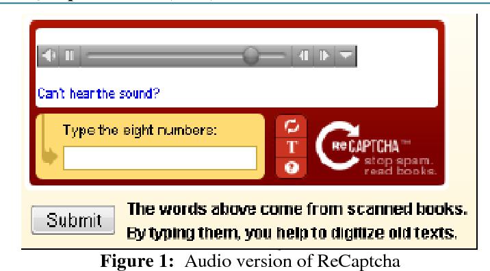 audio captcha