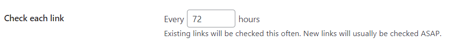 wordpress permalinks not working - link checking interval