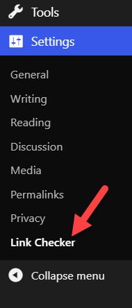 wordpress permalinks not working - link checker plugin settings