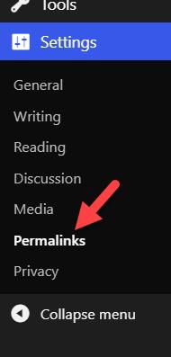 wordpress permalinks not working - wordpress permalink settings