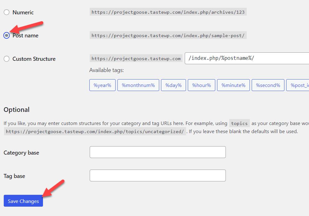 wordpress permalinks not working - post name structure