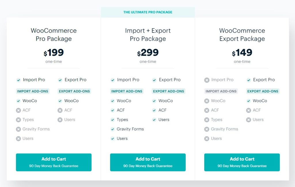 pricing options woocommerce order export