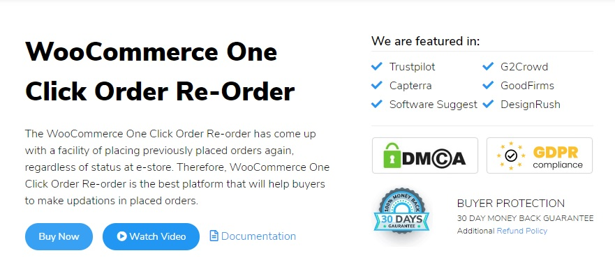 woocommerce one click order reorder plugins to repeat orders
