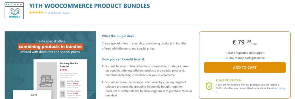 woocommerce product bundle plugins - yith woocommerce