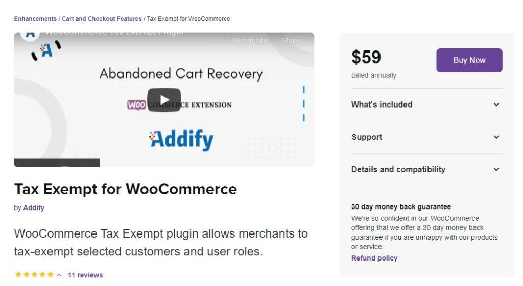 woocommerce tax exempt plugin