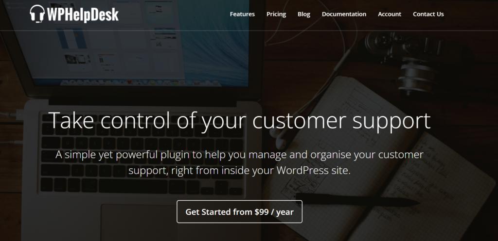wordpress customer support plugins - wphelpdesk