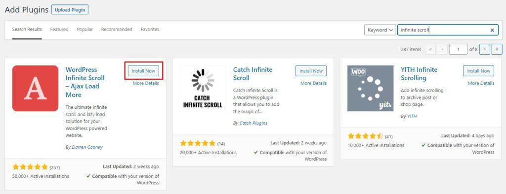 Install and Activate WordPress Infinite Scroll - Ajax Load More Plugin