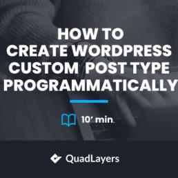 How to create WordPress custom post type programmatically